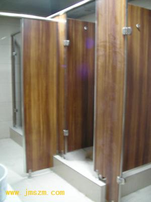 木纹卫生间隔断